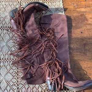 Women's leather tall Ash boots. Worn once